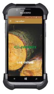 Aplikacja leśna Log-caliper strona startowa