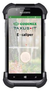 Aplikacja leśna E-caliper strona główna