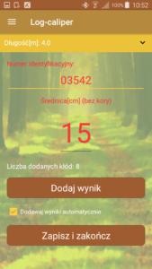 Aplikacja leśna Log-caliper- nowy pomiar
