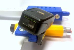 Skaner kodów kreskowych montowany na średnicomierzu elektronicznym Codimex E1-Log