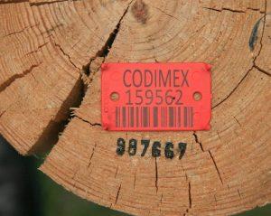 Oznacznik do cechowania drewna BC laser i numer kodowy
