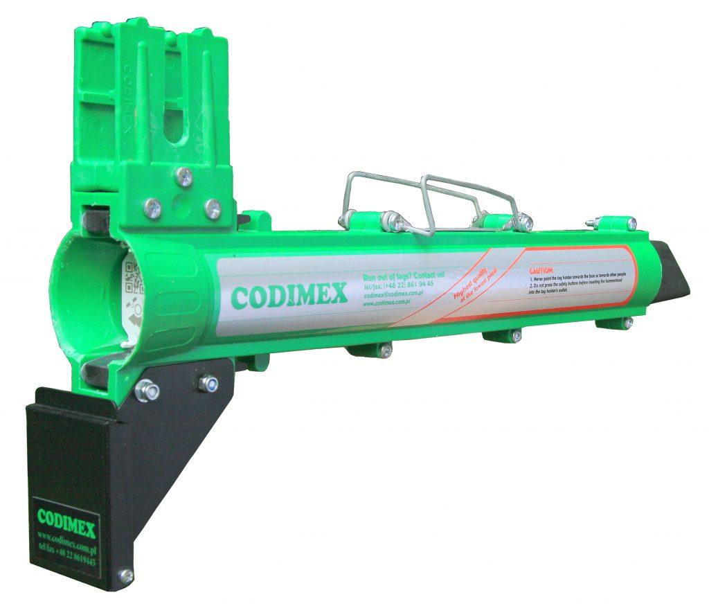 Automatyczny podajnik do oznaczników wraz z tuszownicą T1